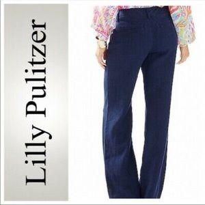 Lilly Pulitzer Dwyer Linen Trouser Pants